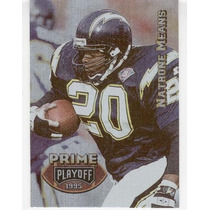 1995 Playoff Prime Natrone Means San Diego Chargers