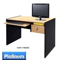 Escritorio De Computación Platinum Haya Y Negro