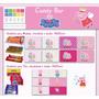 Candy Bar Peppa Pig Personalizado Para Imprimir