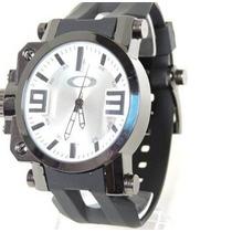 Relógio Masculino Esporte De Luxo Oakley Gearbox Branco