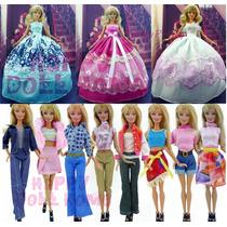 Promoção ! Roupinha Vestido Para Boneca Barbie + Sapatinho