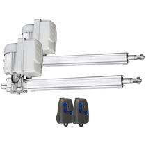 Kit Duplo Motor Portão Eletrônico Pivotante Super Alumínio -