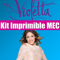 Kit Iimprimible Violetta Tarjeta Candy Bar Full Edicion 2015