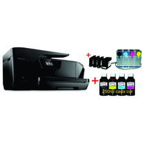 Impressora Multifuncional Hp 7510 A3 + Bulk Ink Papel Arroz
