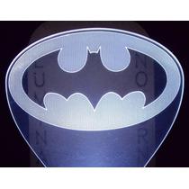Abajur Automático Mini De Tomada, Logo Do Batman =