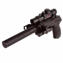 Pistola Gamo Pt85 Tactical Co2 4,5mm Laser Linterna Mira Rgb