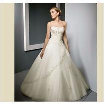 Vestido Noiva Luxo Cristal Importado Pronta Entrega Brasil