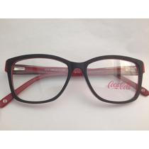Armação Para Óculos Coca Cola Feminina Cc2 3986