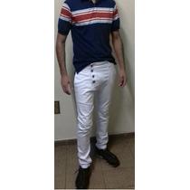 Calça Jeans Masculina Saruel Branca Skinny