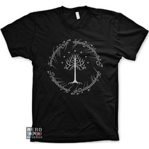 Camisetas Senhor Dos Anéis Escrita Anel Geeks Nerds Livros