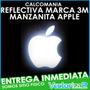 Calcomania Manzanita Manzana Apple Mac Reflectiva Marca 3m