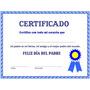 Impresión De Certificados Diplomas Reconocimientos Condecora
