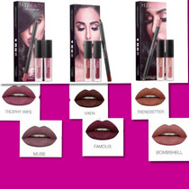 Huda Beauty Lip Contour Set 2 Mini Labiales Y Un Delineador
