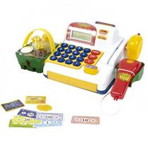 Caixa Registradora Infantil Jogo Mercadinho Cédulas Bel 9708