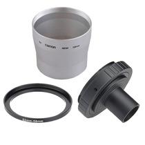 Kit Adaptador Para Canon A650 58mm Novo Lacrado