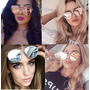 Oculos Sol Escuro Espelhado Redondo Paris Hilton Grande Kim