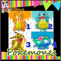 8 Globos Pokemones Grandes Pokemon Go Envio Incluido