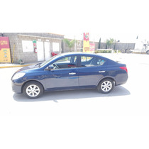 Nissan Versa Advance Automatico 2012 Azul Impecable
