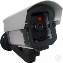 Micro Câmera Falsa Com Led P Segurança Residencial + Brinde