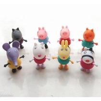 Coleção Bonecos Articulados Peppa Pig E Amigos Kit Com 8 Pçs