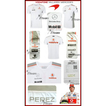 Playera Mclaren Mercedes F1 Sergio Perez Autentica