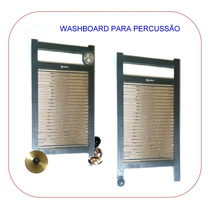 Instrumento De Percussão Wash Board.- Washboard Em Aço Inox