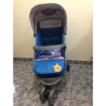 Carrinho Bebê Passeio Três Rodas Disney Pooh Azul Menino