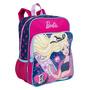 Mochila Grande Com Bolso Barbie Infantil Original Menina