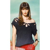 Blusa Pluz Size Grande Malha Viscolycra Lisa