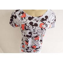 Kit Mãe E Filha T-shirt Camiseta Blusa Mickey Mouse Clássico