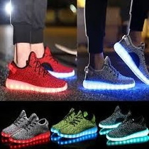 Tenis Led Luces Colores Tipo Yeezy Boost Unisex