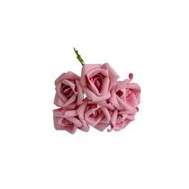 48 Rosas Artificiais Rosa De Eva - Flor Artificial