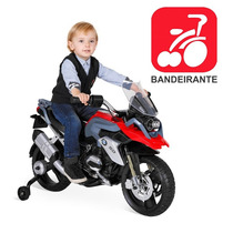 Moto Elétrica Infantil Bmw Gs 1200 Vermelha 12v Bandeirante