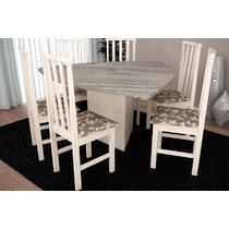 Mesa Triangular Com 6 Cadeiras Móveis Tradição
