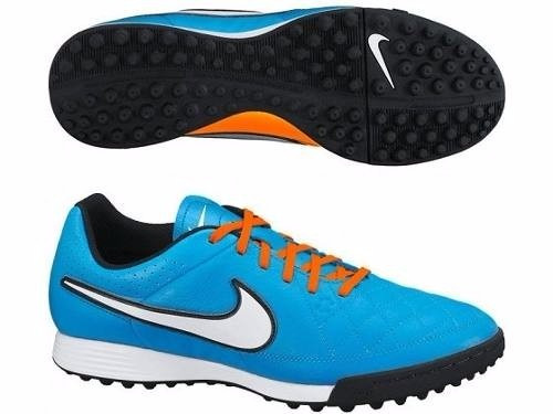 3db1fb98f29d9 Tenis Nike Tiempo Azules-naranjas Turf Legend 2014 Original ...