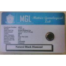 Genuino Diamante Negro Jet 1.54 Qt Certificado