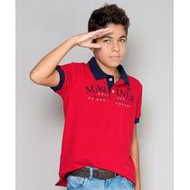 Polo Infantil Paco Kids - Vermelho