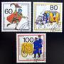 Alemania Berlín, Serie Mi. 852-54 Dib Correos 89 Usada L5494