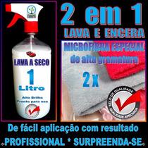 Kit Lavagem Carro A Seco + 2 Pano Microfibra * Alto Brilho