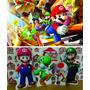 Kit Cenário Display Chão Mario Bros 8 Peças + Painel 2x1,40
