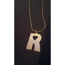 Oro Laminado Letras Perforadas Diseños Cadena Collar Mayoreo