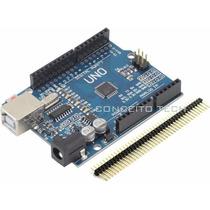 Arduino Uno R3 Smd Atmega 328p + Pinos - Pronta Entrega