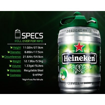 Barril De Cerveza Heineken De 5 Litros