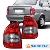 Par Lanterna Traseira Corsa Sedan 00 02 Classic 03 04 05 06