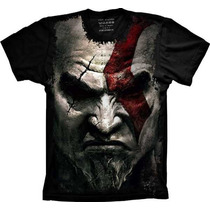 Camiseta Jogo God Of War Kratos Gamer Camisa Kratos Tshirt