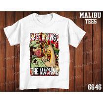 Camiseta Rage Against The Machine Classic Rock Heavy Metal
