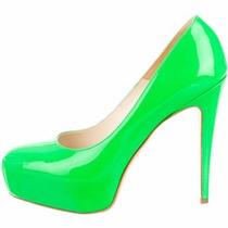 Louboutn Brian Atwood Zapatos 5mex Charol Neon Vuittn Oferta