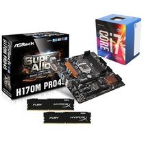 Kit Asrock H170m Pro4s + Intel Core I7-6700 Box + 8gb Ddr4
