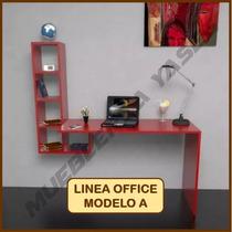 Escritorio Oficina Moderno Minimalista Mueble Pc Laptop A