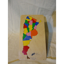 Rompecabezas Mapa Argentina En Madera. 0800